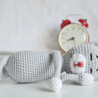 Cute Toy Cat for Kids Organic Cotton Cat Toy Cat Amineko Kids Christmas Gift Stuffed Animal Toy Crochet Toy Baby Toy