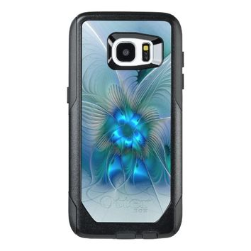 Standing Ovations, Abstract Blue Turquoise Fractal OtterBox Samsung Galaxy S7 Edge Case
