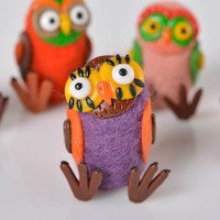 Woolen small cute statuette handmade plastic toy present for kids home decor