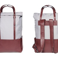 MONOQI   Voyager Backpack - Red/Grey