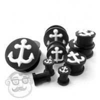 Silicone 3D Anchor Plugs (2 Gauge - 1 Inch) | UrbanBodyJewelry.com
