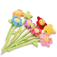 1PCS Cute Cartoon Curtain Clip Sunflower Plush Flexible Tieback Toy Home Dcor Lovely Girls Gift