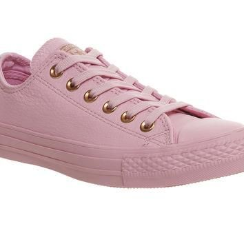 Converse All Star Low Leather Trainers Lilac Mouse Exclusive - Hers trainers