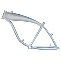 BBR Tuning 26 Inch Motorized Bicycle Frame w/ 2.4L Gas Tank- Brushed Aluminum