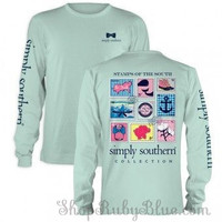 "Simply Southern ""Preppy Stamp"" Long Sleeve Tee"