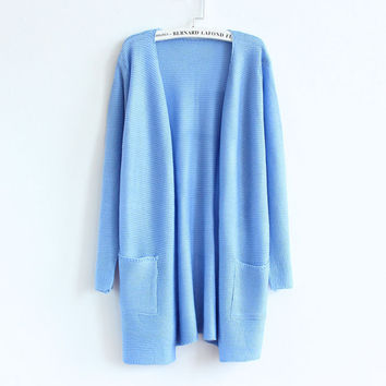 Candy Color Long-sleeve Knitted Sweater