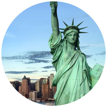 Statue of Liberty Circle Wall Decal