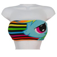 My Little Pony Rainbow Dash Face Licensed Bandeau Tube Top