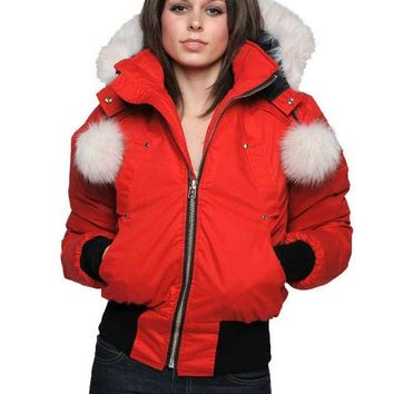 Moose Knuckles Winter trend plus velvet Hooded down jacket