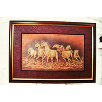 Wild horse,mustang,3D leather,contemporary art,artwork, Creation,wall hanging,handmade,home decor,wall decor,for him,gift