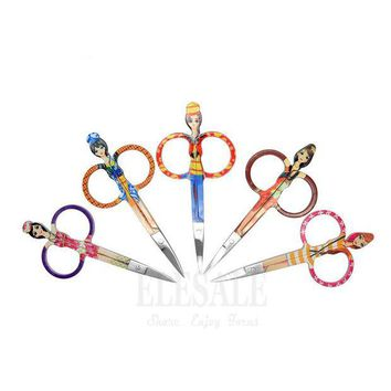ONETOW New 1-5Pcs Color Stainless Steel Mini Scissors First Aid Kits Supplies Makeup Eyebrow Eyelashes Scissors Hand Craft Accessories