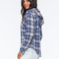 ROXY Foggy Shore Womens Hooded Shirt | Shirts & Flannels