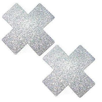 Pixie Dust Silver Glitter X Factor Pasties by Neva Nude