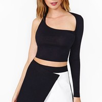 Nasty Gal Fraction Crop Top