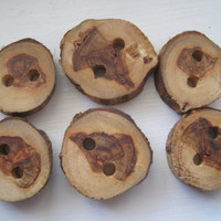 Handmade Tree Branch Buttons Set of 6 by TimberWoodsWares on Etsy