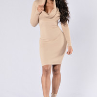 Comeback Season Dress - Taupe