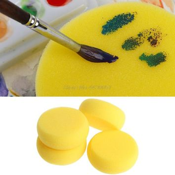 Hot 5PCS Round Painting Sponge For Art Drawing Craft Clay Pottery Sculpture Cleaning Tool