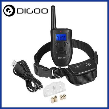 Digoo DG-PPT1 Pet Dog Rechargeable Trainer Waterproof Stop Barking Collars Remote Dog Training Collar Smart Home Kits