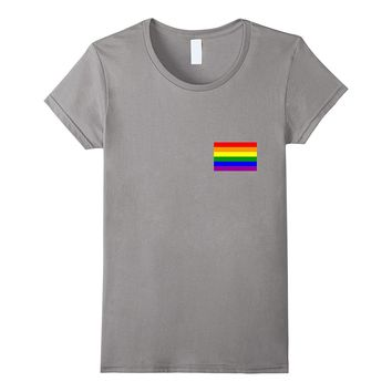 Gay Pride Flag Pocket Tee T-Shirt