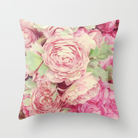 Roses Throw Pillow by Julia Grifol Designs