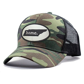 Homeland Tees Men's Tennessee Home State Army Camo Trucker Hat - Black