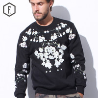 Print Pullover Winter White Long Sleeve Round-neck Hoodies [8822222467]