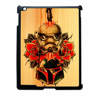Star Wars Roses Tatto In Wood iPad 3 Case