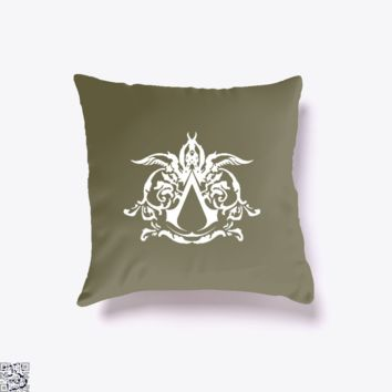 Assassins Creed Tattoo Desmond, Assassin's Creed Throw Pillow Cover