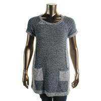 Style & Co. Womens Plus Knit Marled Tunic Sweater