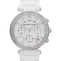 Michael Kors Women's 'Parker' White Chronograph Watch - MK5654