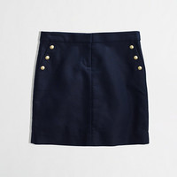 FACTORY BUTTONED DOUBLE-SERGE COTTON MINI