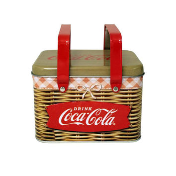 Unique Coke Tin Coca-Cola Collection Picnic Basket Box
