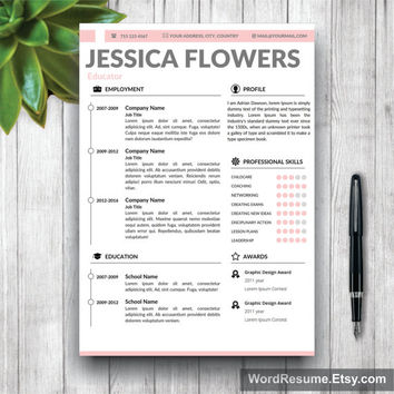 CV Template | Resume Template + Cover Letter and Portfolio for MS Word | Curriculum Vitae Template | Instant Digital Download CV