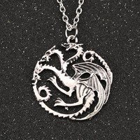 Unique: 3 Headed Dragon Necklace-FREE+SHIPPING ONLY