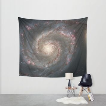 Bright spiral nebula galaxy stars hipster geek cool space star nebulae NASA photo sci-fi landscape Wall Tapestry by IGallery | Society6