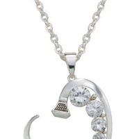 Montana Silversmiths Silver and Shine Horseshoe Nail Heart Necklace