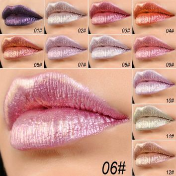 Health & Beauty  Makeup Tools & Accessories  sexy Beauty lip red Glitter liquid lipstick Waterproof lipgloss Makeup Lip Glosses