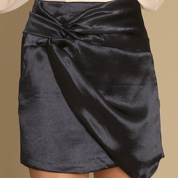 Tell Me More Satin Skirt