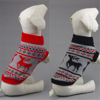 Small Pet Dog Winter Warm Pullover Coat Tops Toy Dog Clothes Sweater Knitwear Puppy Coat Outwear Costume