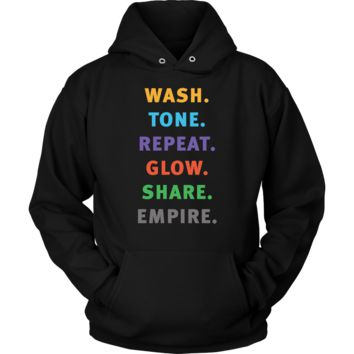 Wash Tone Repeat Rodan and Fields Conversation Starter Hoodie