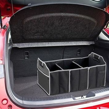 black car home trunk organizer 3 large sections of storage 2