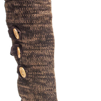 Muk Luks Caris Women's Knit Sweater Winter Boots Sherpa