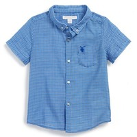 Toddler Boy's Burberry 'Mini Fred' Short Sleeve Sport Shirt