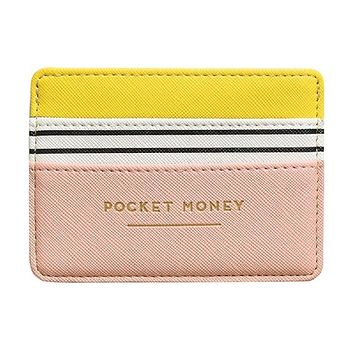 Pocket Money Card Holder in Yellow and Pink