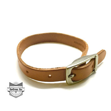 ZipSteelCo. Leather Bracelet with buckle