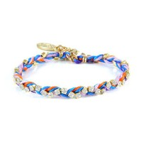 Colorful Gold Friendship Bracelet in Sprinkles