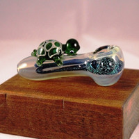 Handmade Glass Pipe Coloful Turtle Theme Design Hand Made Hand Blown