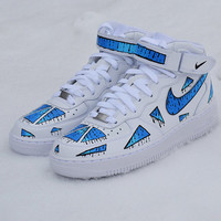 Custom Nike Air force 1 DRIPPING TRIANGLES PART 1