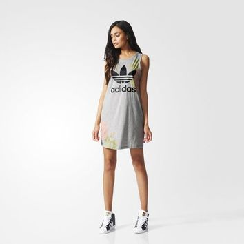 adidas Pastel Rose Tank Dress - Grey | adidas US
