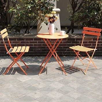 Garden Bistro Set Table Chairs Folding Outdoor Patio Furniture Sets Steel
